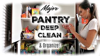 MAJOR PANTRY DEEP CLEAN AND ORGANIZE! | Small Pantry Organization Tips | Pantry Deep Clean 2018