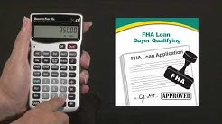 Qualifier Plus IIIx Buyer Qualifying FHA Loan How To
