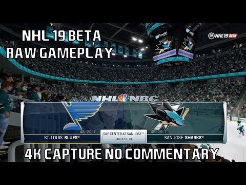 [4K] NHL 19 Beta - Online Versus Mode Raw Gameplay