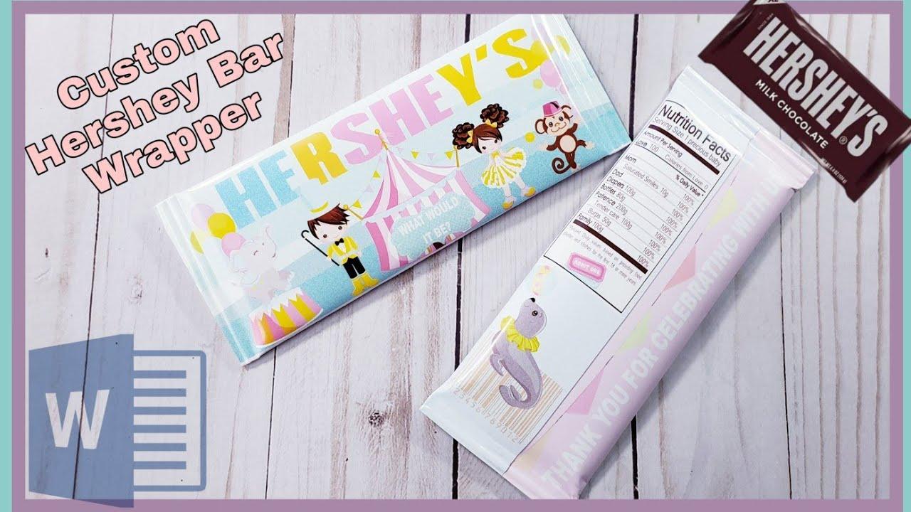 DIY Hershey Bar Wrapper  Microsoft Word For Candy Bar Wrapper Template Microsoft Word