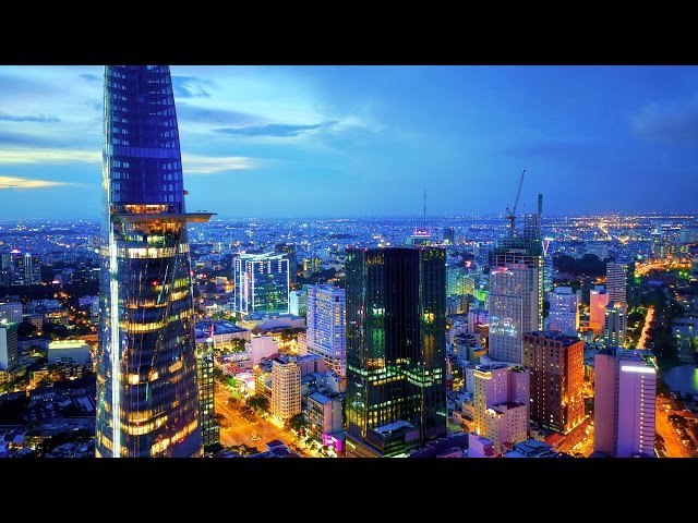 Amazing Saigon Ho Chi Minh City in Vietnam 2017