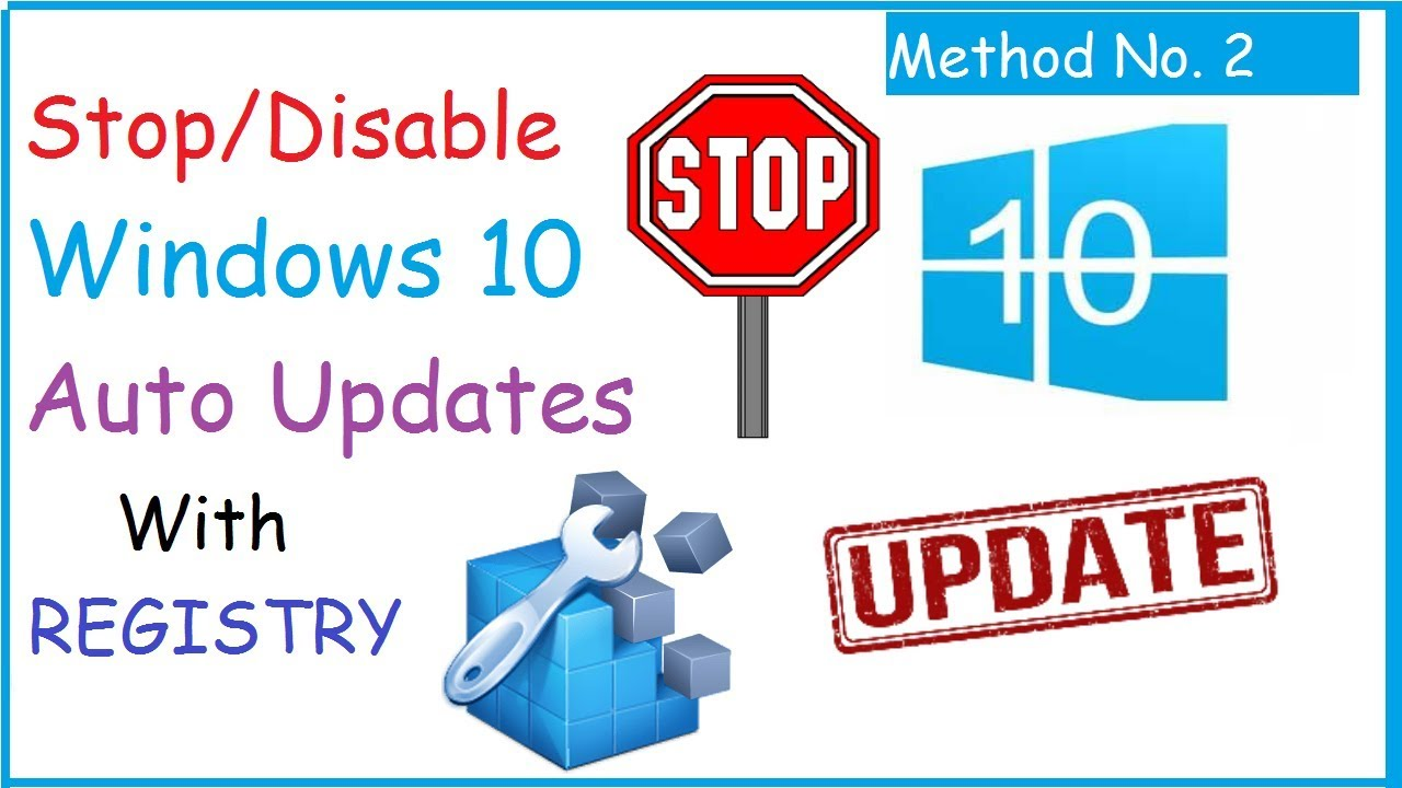 Stop Disable Windows 10 Automatic Updates Using Registry Method 2
