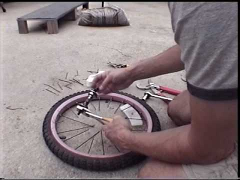 How to make a banding wheel from spare parts youtube for Making bicycle wheels