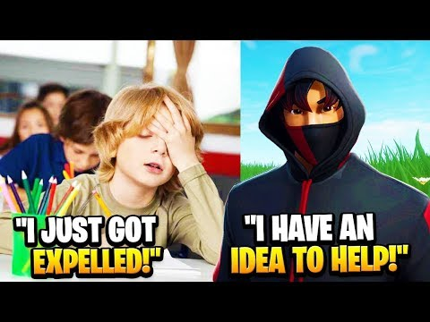 7 Year Old Got EXPELLED From School, So I Helped Him... (Fortnite)