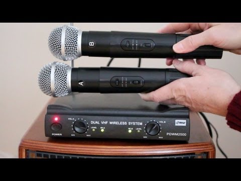 Wireless Mic system  PylePro PDWM2500