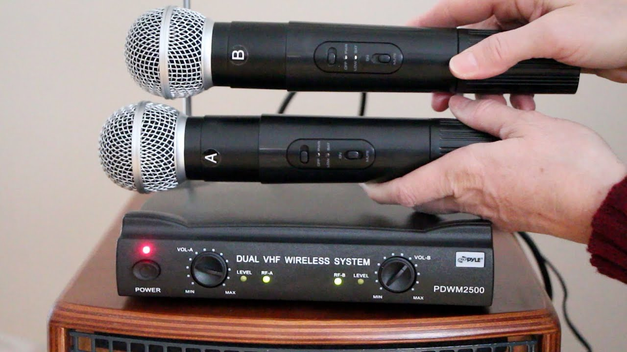 Wireless Mic System Pylepro Pdwm2500 Youtube