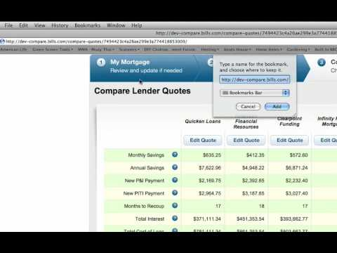 How to Use Lender Compare - Bills.com's Free Mortgage Calculator