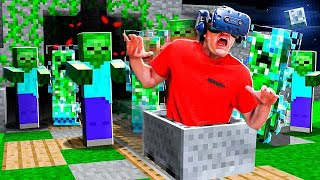 LAST TO LEAVE MINECRAFT VR CHALLENGE!