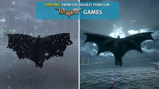 Jumping From the Highest Points in Batman Games! (2009-2015)
