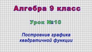 Алгебра 9 класс (Урок№10 - Построение графика квадратичной функции.)