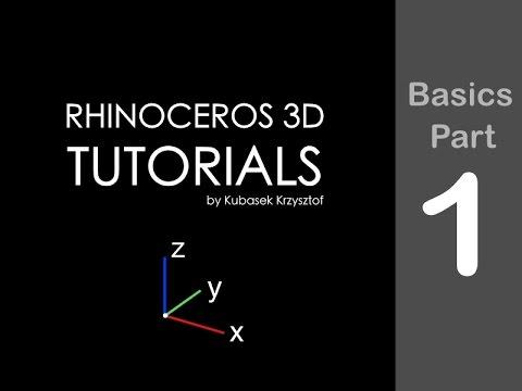 RHINO TUTORIAL - Basics session #1 of 6