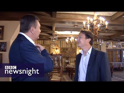 Viktor Yanukovych meets Gabriel Gatehouse - BBC Newsnight
