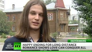 Siberian wedding for Palestinian bride, Russian fiance