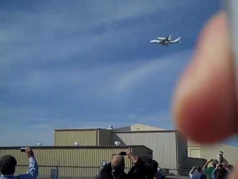 NASA Shuttle Endeavour over NASA Ames Research Center, Moffett Field, Mountain View, Bay Area, CA