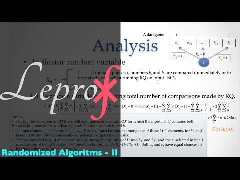 Algorithms } 007 } Analysis of randomized algorithms }