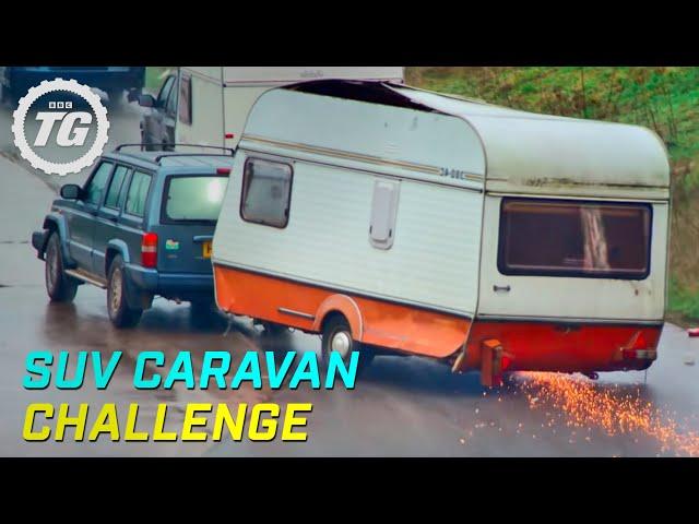 SUV Caravan Challenge | Top Gear | Series 22 | BBC