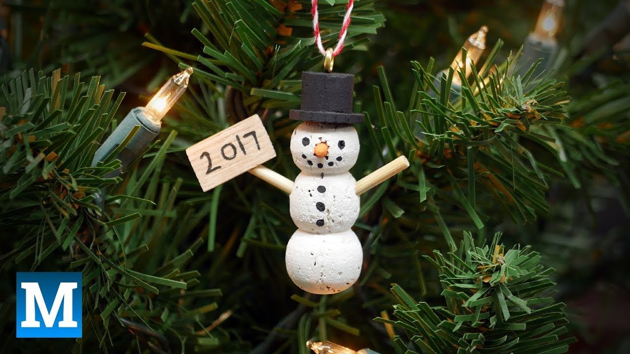 How To Make A Wine Cork Snowman Ornament