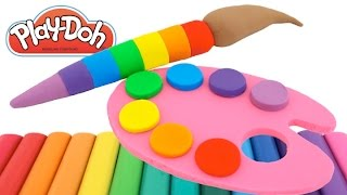 Best Learning Colors Video for Children Play Doh Paint Ice Cream Compilation RL