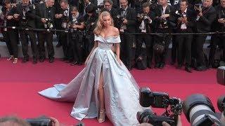 The stunning model Elsa Hosk on the red carpet in Cannes