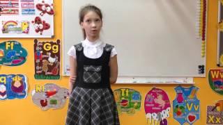 Варя Жильцова, 4 класс. Урок английского языка 3 марта 2016.
