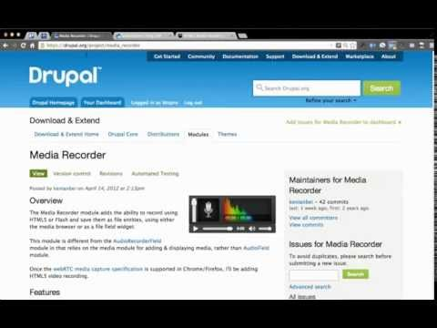 HTML5 audio recording in the browser with Drupal