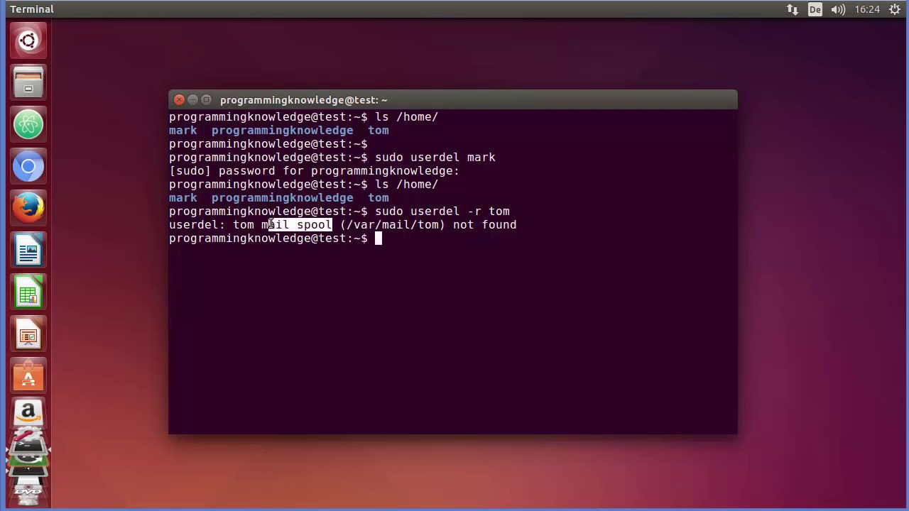 Linux Command Line Tutorial For Beginners 23 userdel command Removing Users