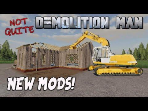NEW MODS | Not Quite DEMOLITION MAN! (Review) Farming Simulator 19 FS19 | 12th April 2021.