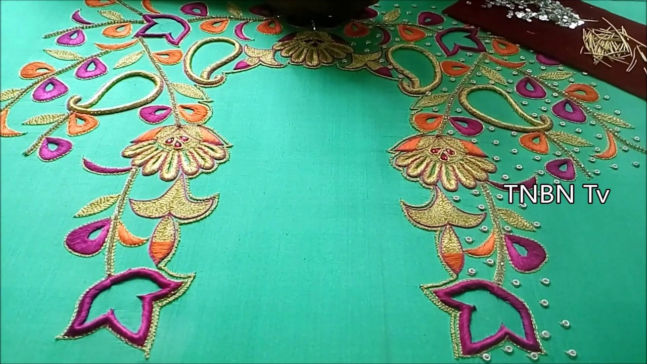 Hand embroidery maggam work simple