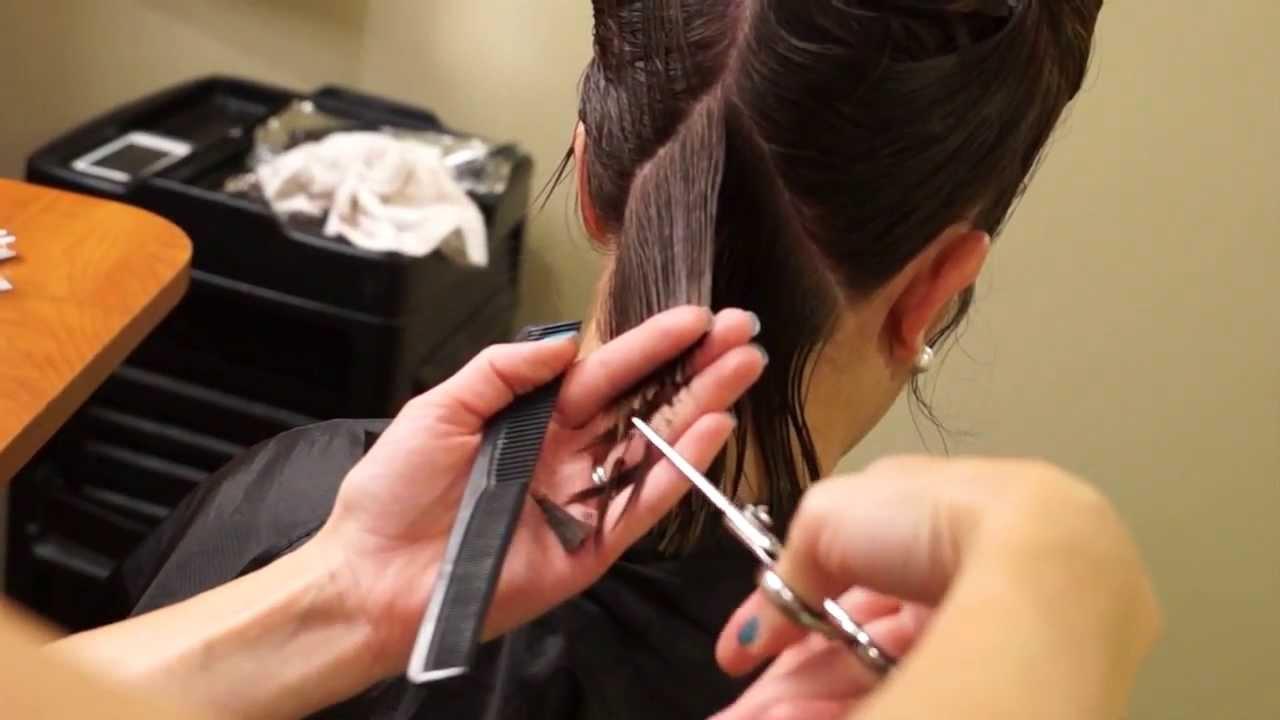 A Line Bob Haircut Short Hair Tutorial Hair 101 Youtube