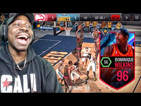 NASTY DUNKS BY 96 OVR DOMINIQUE WILKINS! NBA Live Mobile 16 Gameplay Ep. 111
