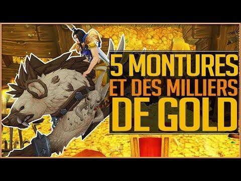 5 MONTURES ET DES MILLIERS DE GOLD  FARMING