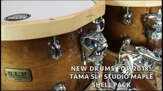 Tama SLP Studio Maple 5 Piece Shell Pack, New Drums for 2018