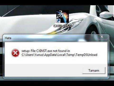 CATİA  setup:File CXINST.exe not found in HATASI ÇÖZÜMÜ