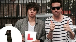 Brad from The Vamps - Grimmy's BAD Driving Experiment