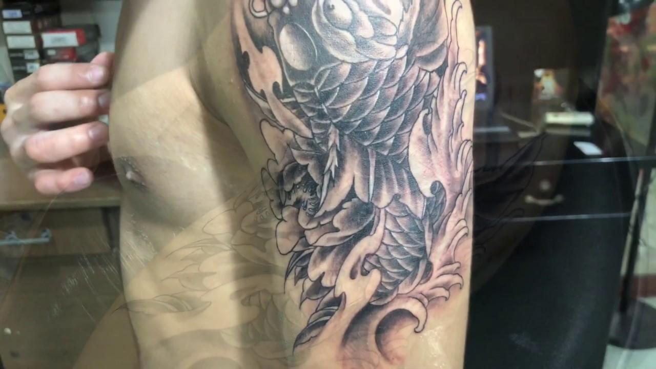 Xăm hình cá chép trên bắp tay tại Thủ Đức – Tattoo Trần Kỹ | Bao quát các tài liệu liên quan hình xăm bắp tay trong chuẩn nhất