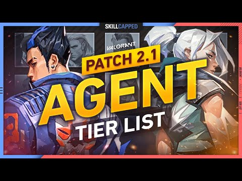NEW BEST AGENTS TIER LIST Patch 2.1 - Valorant Guide