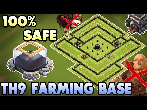 New Town Hall 9 ( TH9 ) Dark Elixir Farming ( Protecting ) Base 2017 | Clash Of Clans