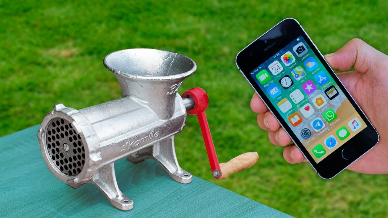 EXPERIMENT: IPHONE VS MEAT GRINDER