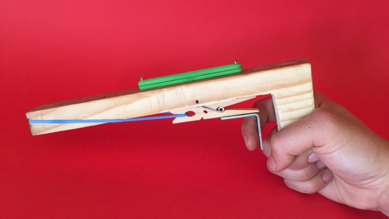 Create a Wooden Toy Gun with a Trigger - DIY Crafts ...