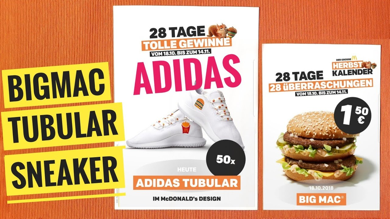 Adidas Sneaker 1 5 Big Mac 28 Tage Mcdonald S Herbst Aktion