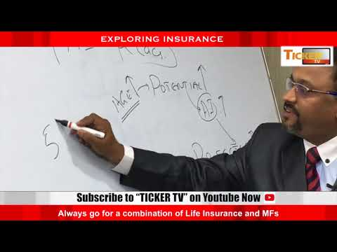 Ticker Tv: Exploring Insurance: Always go for a combination of Life Insurance and Mutual Funds