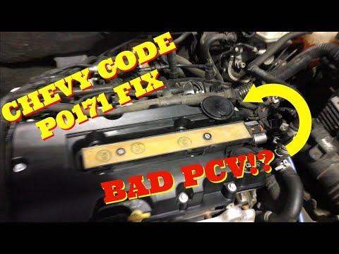 CHEVY CRUZE CODE P0171 FIX! BAD PCV?! - YouTube