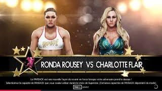 Ronda Rousey Vs Charlotte Flair [All Woman's Live-5ème Partie]
