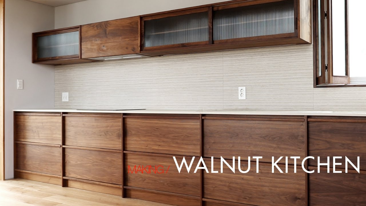 W97 Kitchen With Walnut Youtube