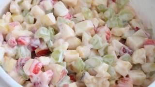 Салат из фруктов. Фруктовый десерт.