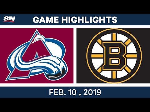 NHL Highlights | Avalanche vs. Bruins - Feb 10, 2019