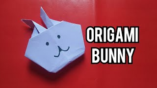 Easy origami bunny/Crafts/paper crafts/Easter paper crafts for kids No glue no scissors