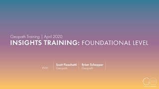 Geopath Insights Training | Foundational Level