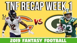 Packers vs. Bears Week 1 TNF Recap - 2019 Fantasy Football
