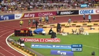 800m men Monaco 2013, Solomon 1.43.72, Bosse 1.43.76 PB